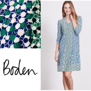 Boden Mollie Tunic Dress Greek Bloomsbury Spot